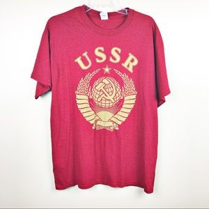 USSR Moscow olympic wrestling t-shirt large 1980
